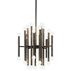 An Impressive Thirty Light Chandelier From Jonathan Adler With A  Contemporary Appeal.