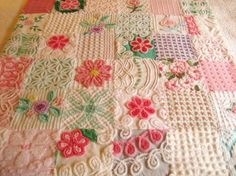 Quilts from vintage bedspreads....