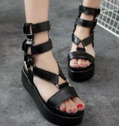 Women/'s Platform Buckle High Stilettos Knee-High Clubwear Boots US4.5-15 35-46