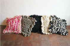 Idea: Wool X-Grande Floor Pillow 'Palomita Hot Pink MIx'
