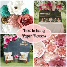 Build your own paper flower backdrop by PaperFlora.com