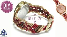 Macrame Watch Strap Tutorial | How to make Macrame Watch Bracelet #MacrameWatchStrap #WatchStrap #Tutorial #Diy #Pattern #WatchBracelet #Bracelet #macrameBracelet #FreeTutorial #MacrameMagicKnots #Craft