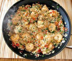 Cajun Shrimp and Rice. Cajun Shrimp and Rice Shrimp And Rice Dishes, Cajun Shrimp And Rice, Spicy Dishes, Seafood Dishes, Butter Shrimp, Garlic Butter, Creole Recipes, Cajun Recipes, Seafood Recipes