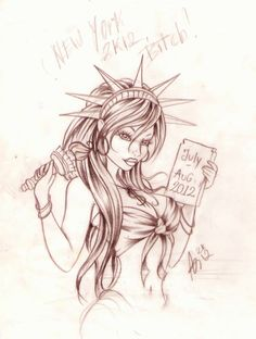 pin up statue of liberty by Nevermore-Ink.deviantart.com on @deviantART