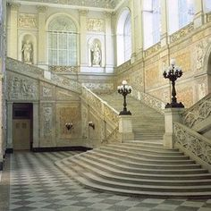 A staircase that looks like the one in Cinderella.