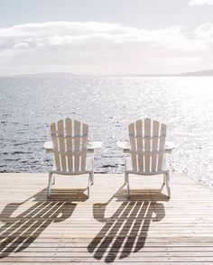 Two Adirondack chairs Good Vibe, Look Here, Am Meer, Summer Aesthetic, Lake Life, Beach Cottages, My New Room, Photos, Pictures