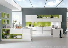 Feel white modern kitchen