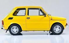 Fiat-126-6 Fiat 126, Retro Cars, Vintage Cars, Fiat 500 Sport, First Car, Illustration, Porsche, Classic Cars, Automobile