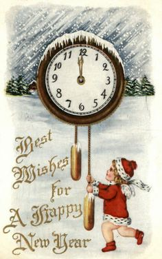 image nouvel an Vintage Happy New Year, Happy New Year Cards, Happy New Year 2016, New Year Wishes, New Year Greetings, Happy 2015, Christmas Gift Tags, Vintage Christmas Cards, Vintage Holiday