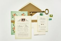 wedding invitation- Quill & Fox