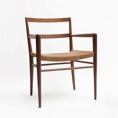 Smilow Woven Rush Dining Chair with Arms