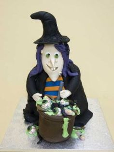 Spooky Witch Cake Spooky Halloween Cakes, Halloween Cupcakes, Halloween Party, Witch Cake, Gorgeous Cakes, Cupcake Cookies, Cake Ideas, Special Occasion, Wedding Cakes