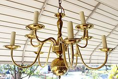 Your place to buy and sell all things handmade Brass Chandelier, Vintage Lamps, Candlesticks, Solid Brass, Arm, Ceiling Lights, Chain, Lighting, Antiques