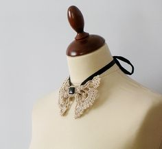 lace brooch necklace