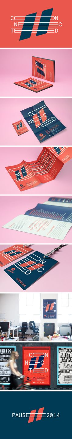 Pause Fest 2014 | Branding Preview by Pennant , via Behance