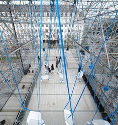 Temporary Scaffolding Exhibition Space