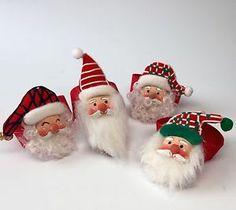 Vtg Santa Claus Napkin Rings Christmas Set of 4 Fabric with Lovely Details   eBay