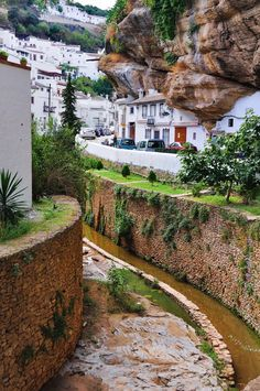 Setenil de las Bodegas Town in Spain Setenil de las Bodegas is a town in the province of Cádiz Sp. more with healing sounds: Cadiz, Places To Travel, Places To See, Wonderful Places, Beautiful Places, Voyager Loin, Andalucia Spain, Spain And Portugal, Spain Travel