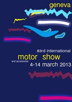 Inspired by the 2010 Geneva Motor Show poster