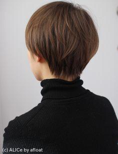 シンプルなショートマッシュ M58 | ヘアスタイル・髪型・ヘアカタログALICe by afloat(アリスバイアフロート)自由が丘の美容室・美容院