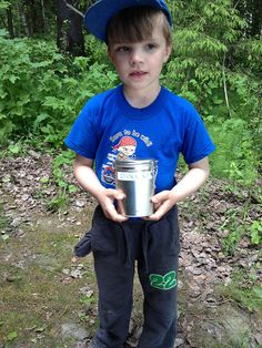 My son and his first cache which he has found =) Boro