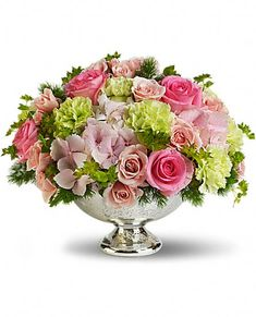 Teleflora's Garden Rhapsody Centerpiece Flowers -spring flowers
