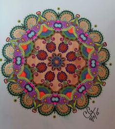 mandela 08 15 all gel pens from colorama decoration book rh pinterest com Colorama Coloring Books Walmart Adult Coloring Book Finished Examples