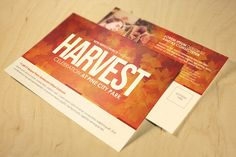 Harvest Celebration Church Postcard Template can be used for your church events, concerts or any event that need a clean modern design for promotional purposes. The file is print ready, just edit the text choose a color option, then send to print. Add this Postcard to your design tool box today.
