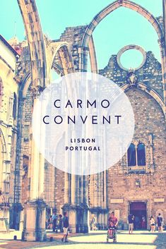 Carmo Convent Lisbon survived the 1755 earthquake and tsunami while other building fell around it. Today there is an archaeological museum inside. A unique gothic cathedral without a roof. Say hi to the mummies in the museum. #Lisbon #Carmo #Museum #Portugal  Lisbon Portugal | Lisbon attractions | things to do in Lisbon