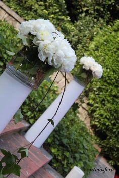 Decoración, centros florales. #bodas