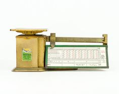 Vintage Triner Air Mail Scale Gold and Green /  by tawneyvintage, $68.00