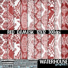 Hey, I found this really awesome Etsy listing at https://www.etsy.com/listing/286006533/red-damask-digital-paper-pack-instant