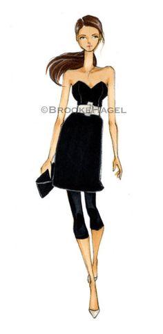 MK- Fashion Illustration Print- by Brooke Hagel