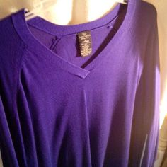 Sweater light weight purple, plus size Purple lightweight pretty color, comfortable Faded Glory Tops Sweatshirts & Hoodies