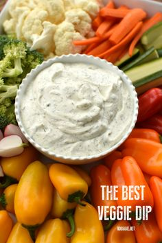 The Best Vegetable Dip - forget store bought dips, homemade is the only way to go, and this one is delicious and so easy! : The Best Vegetable Dip - forget store bought dips, homemade is the only way to go, and this one is delicious and so easy! No Cook Appetizers, Appetizer Dips, Appetizer Recipes, Snack Recipes, Cooking Recipes, Detox Recipes, Veggie Dip Recipes, Vegtable Appetizers, Bacon Recipes