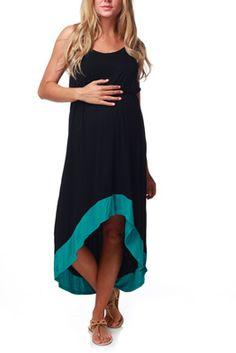 Turquoise Black Maternity Dress - Pink Blush Maternity