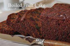 Boiled Fruit Cake Recipe - Joyofbaking.com *Tested Recipe*. For the hubbs, a fruit cake fiend. E.