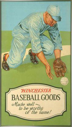 Circa 1930 Winchester Baseball Advertising Display