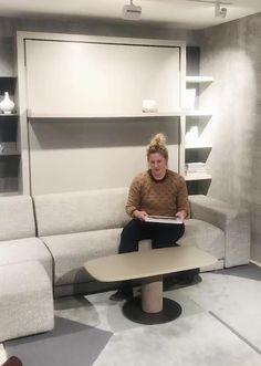 Small Room Design Bedroom, Bedroom Furniture Design, Home Room Design, Home Decor Furniture, Bedroom Decor, House Design, Cama Murphy, Murphy Beds, Convertible Furniture