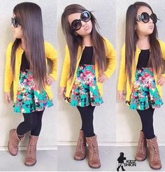 I need this for my baby girl Little Girl Outfits, Cute Outfits For Kids, Little Girl Fashion, Toddler Outfits, Cute Girls, Toddler Girl Style, Toddler Fashion, Fashion Kids, Look Fashion