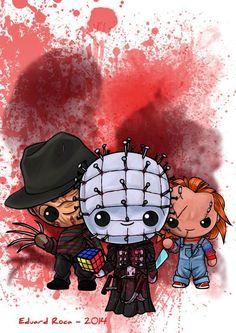 Every day is Halloween Horror Cartoon, Horror Icons, Horror Movie Characters, Horror Movies, Halloween Horror, Halloween Art, Es Pennywise, Horror Artwork, Halloween Drawings