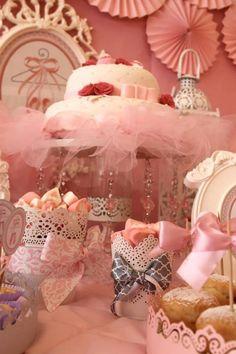 Pink Party aniversário da bailarina via Idéias do partido de Kara |. Kara'sPartyIdeas com # # Ballet PartyIdeas # Suprimentos # Girl # Pink (14)