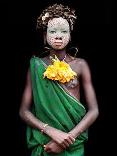 Young girl from Nashta, Omo River, Ethiopia by Mario Gerth.