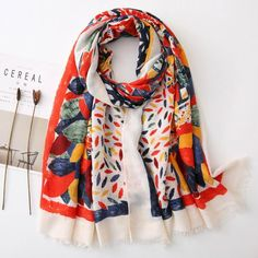 Condition: new, in excellent quality Size: 90cm x 180cm Material: polyester Style: printing Texture: soft, lightweight  This scarf would make an amazing addition to your evening or day attire! Great for any special occasion. Perfect for any seasons. Please understand colors may vary due to your Beach Scarf, Red Shawl, Small Scarf, Paisley Scarves, Vintage Fashion, Vintage Style, Summer Scarves, Summer Accessories, Square Scarf