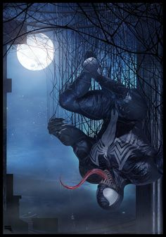 To exercise a little bit my skills I did my last character from Marvel ( Venom ) One of the most dangerous villians from Spiderman. Comics Spiderman, Venom Comics, Marvel Venom, Marvel Villains, Marvel Fan, Marvel Heroes, Marvel Comics, Storm Marvel, Batman
