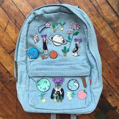 Imagen de backpack, blue, and bag