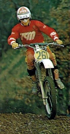Michele Rinaldi TGM-SUZUKI 500 2 Stroke Dirt Bike, Motocross Riders, Off Road Racing, Vintage Motocross, Dirtbikes, Vintage Bikes, Vintage Italian, Cool Bikes, Old School