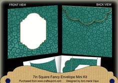 Peacock Beaded Fancy 7x7inch Easy Envelope Mini Kit on Craftsuprint - Add To Basket!