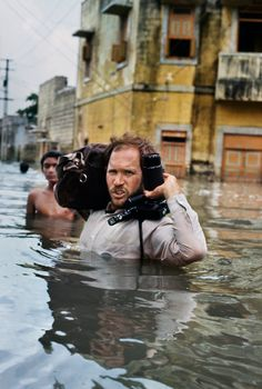 Steve McCurry in monsoon flood, Gujarat, India       | -Steve McCurry-