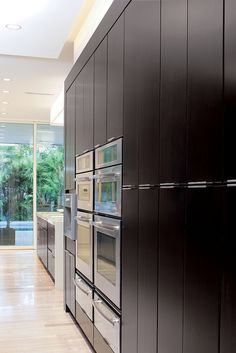 Built-in Ovens and storage